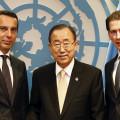 UN Generalversammlung. Au§enminister Sebastian Kurz und Bundeskanzler Christian Kern treffen UN GeneralsekretŠr Ban Ki Moon. New York, 20.09.2017, Foto: Dragan Tatic